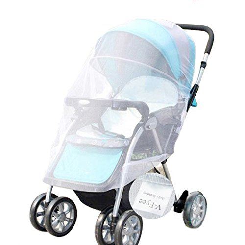 mosquito net v fyee bug net for baby strollers infant carriers car seats cradles white xamgaw. Black Bedroom Furniture Sets. Home Design Ideas