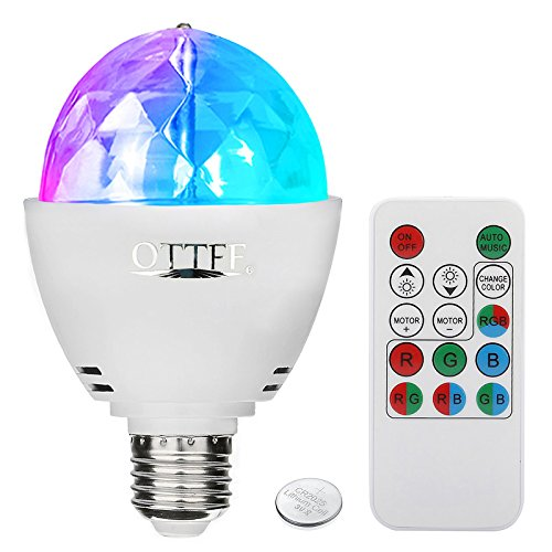 Rotating Led Strobe Bulb Multicolor Crystal Stage Light