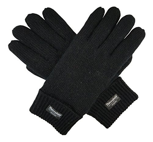 Bruceriver Men s Pure Wool Knitted Gloves with Thinsulate Lining aee472364b1